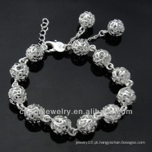 Alibaba Hot venda moda prata jóias pulseira charme BSS-022