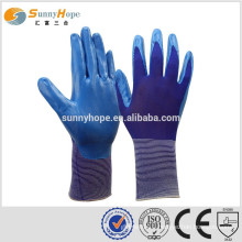 sunnyhope size 9 safety Work rubber coated gloves