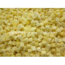 Congelado amarillo melocotón en tiras (5X5mm y 10X10mm)