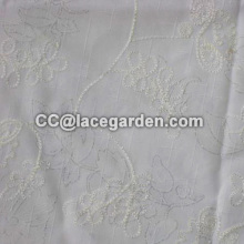 Beautiful Flower Design Chain Embroidery Fabric