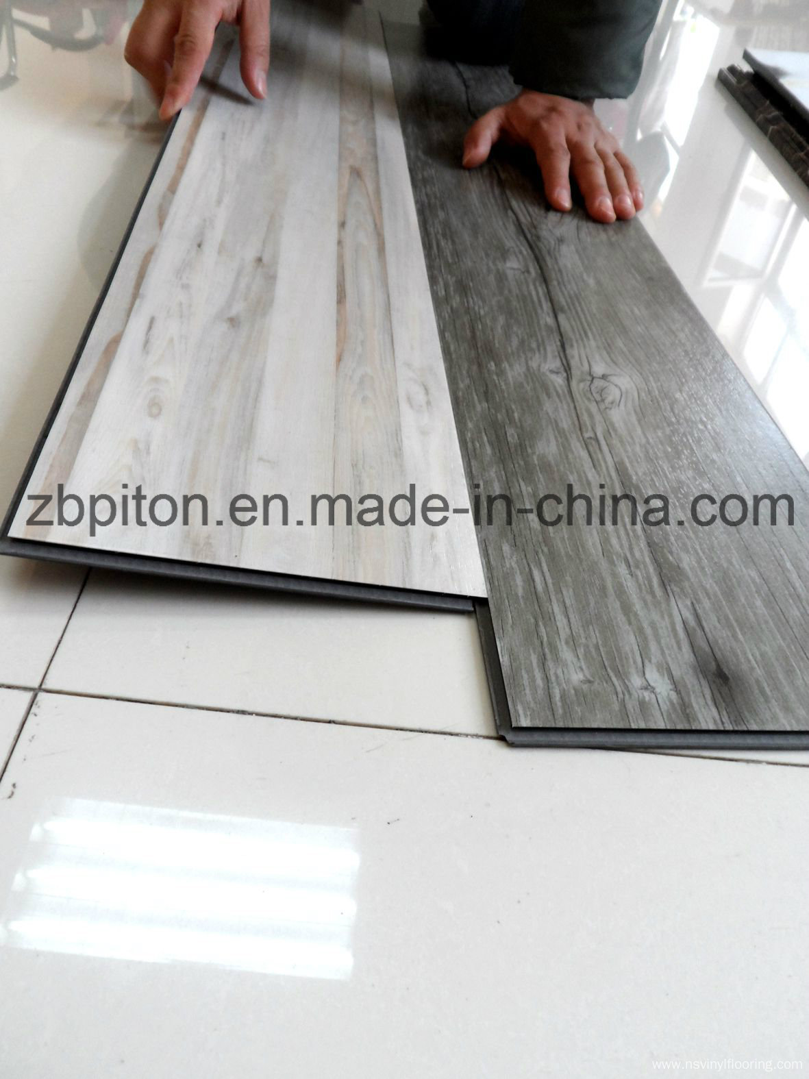click system wood like luxury vinyl tile floor pvc flooring