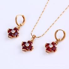 60162 Xuping simple design colourful fashion beautiful Italian gold plated wedding jewelry sets