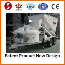 2014 CALIENTE CE MB1200 mini hormigón móvil que hace la máquina planta de mezcla prefabricada 10-16m3 / h
