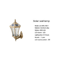 Home decoration 2w led solar wall light