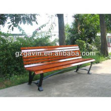 2013 hot sale galvanized metal garden bench with wood slats