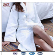 Elegante diseño 100% algodón chal Collar estilo lujoso hotel Waffle Albornoz