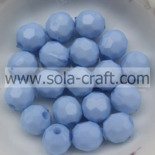 Wholesale New Fashion 4MM Light Blue Acrylic Gumball Faceted Glass Spacer Crystal With Good Quality
