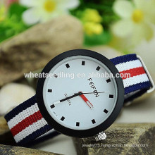 Hand wooven stripe band watch men luxury