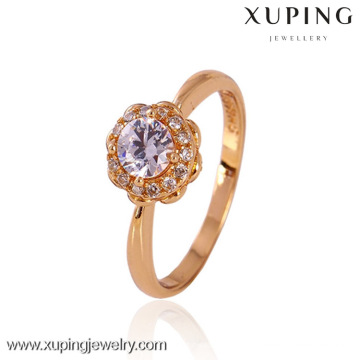 11225-Xuping New Model 18K Gold Jewelry Wedding Ladies Finger Ring