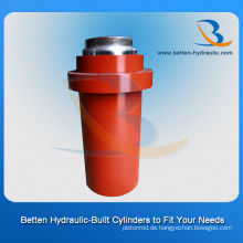 Vorderer Flansch Hydraulikzylinder als Sie Zeichnung
