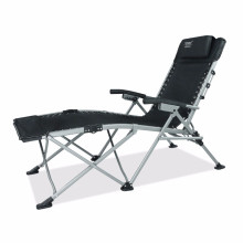 New design luxury metal canvas durable folding lounge chair for camping