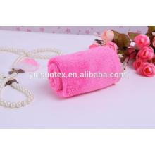 Toalla de bambú rosa bambú cuadrado toalla de bambú 100%