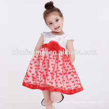 2017 children frock designs party girls dresses one pcs girl party wear western dress