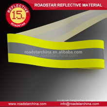Yellow-sliver-yellow reflective flame retardant tape