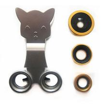 iPhone6에 대 한 3에 1 클립 고양이 렌즈