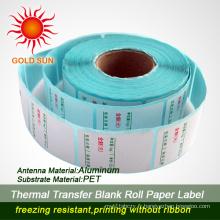 Étiquettes en papier thermique vierges de haute qualité pour supermarché (TPL-019)