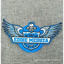Etiqueta tecida feita sob encomenda da tela da etiqueta para a roupa do vestuário