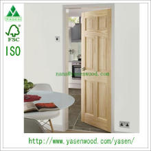 Composite 4 Panel Pine Wooden Door