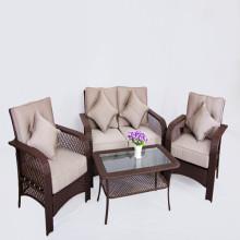 Grijze nieuwe klassieke rotan meubilair rieten bank Bank