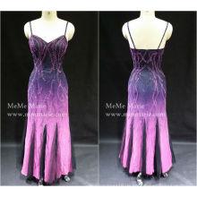 [Auf Lager] Spalte Open Back Spaghetti Strap Schatz Abendkleid Prom Kleid mit Pailletten BYE-14056