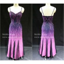 [В наличии] колонка открыть назад спагетти ремень вечернее платье Пром платье с блестками бай-14056