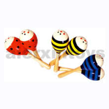 Wooden Music Toy Maracas (80936-1, 80936-2, 80936-3)