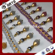 2016 Stock Produkt Großer Verkauf für Sofa Vorhang Kissen der Perle und Beflockung Perlen Fransen