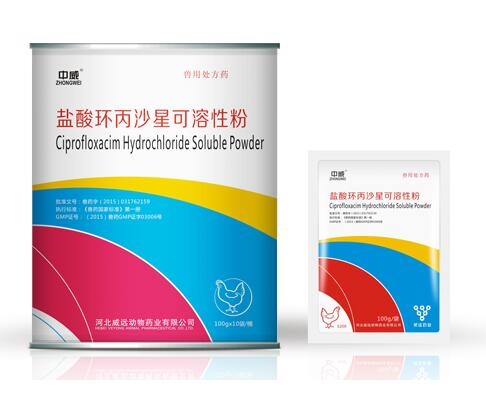 Ciprofloxacin HCL soluble powder