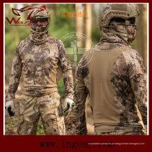 T-shirt de combate tático Kryptek rápido seco ao ar livre esporte manga longa camiseta