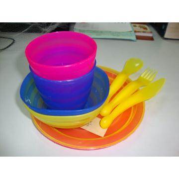 PP Set de mesa Exteriores placa Copa faca colher Criança Cozinha Kids