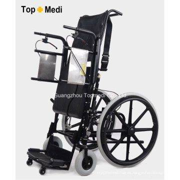 Silla de ruedas de pie manual operada por aire y palanca Topmedi