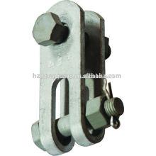 Stromleitung Verteilung Hardware-Montage Feuerverzinkter Stahl Gabelkopf elektrische Freileitungen Zubehör