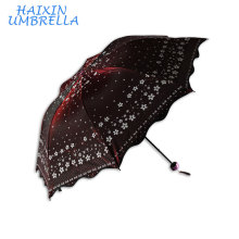Idea Products Wholesale Alibaba Pearl Shinning Fabric with Flower Printing Pattern Chinese Umbrella for Sale