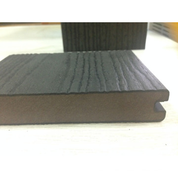 Capped Solid Decking Wood Grain Coextrusion WPC Board