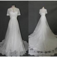 Chiffon A Line Evening Gown Bridal Wedding Dress F5090