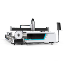 Bodor F3015T fiber laser cutter for both stainless steel tube and sheets with WIFI control