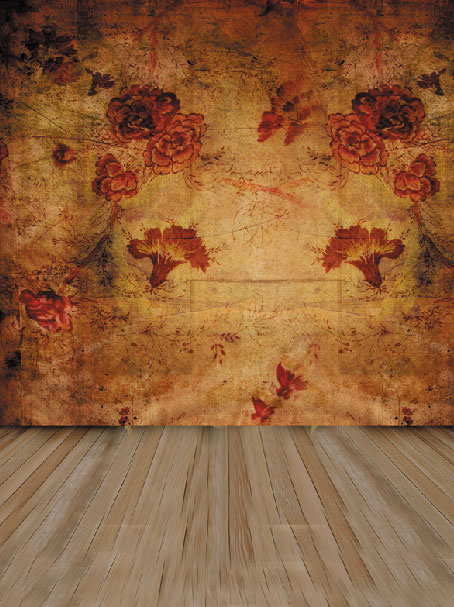 Wallpaper Patterned With Flower Photography