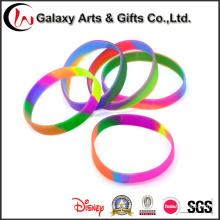 Pulsera modificada para requisitos particulares al por mayor de la energía del encanto del silicón de la pulsera del silicón del remolino de la fábrica para los deportes
