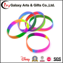 Factory Wholesale Customized Swirl Silicone Bracelet Silicone Charm Energy Wristband for Sports