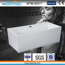 Luxury High Quality Cool Rectangle Freestanding Bath Tub (WTM-02517)