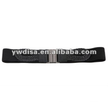 Black Women's Elastic Cinch Belt