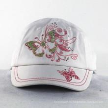 Вышивка бабочка с блестящими каменными девушками Детские шапки