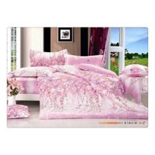 100 Baumwolle 40s 128 * 68 Luxus weichen hochwertigen Pigment Druck Bettwäsche Bettdecke gesetzt Guangzhou