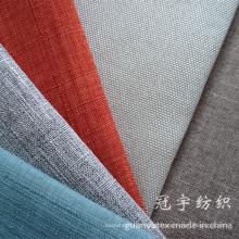 Tecido de linho de têxteis lar decorativo para usos de Slipcover