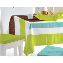 PVC Printed Pattern and Square Shape Table Cloth with Nonwoven Backing