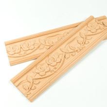 Material de madeira e guarnição de madeira decorativa da guarnição da coroa de madeira cinzelada