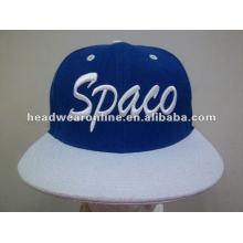 Flat brim snapback cap / flat pico snapback chapéus