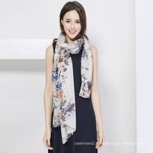 Foulard en soie pour femme, impression numérique