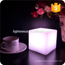 10cm Cube decorative battery operated RGB LED table lamps for bar,hotel,room