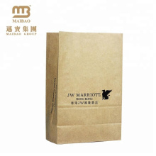 food packaging kraft paper bag with pe liner